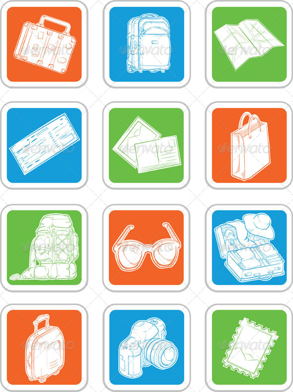 GraphicRiver Travel Icons Set 8071602
