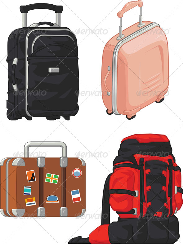 GraphicRiver Travel Suitcase and Bag Set 8071605