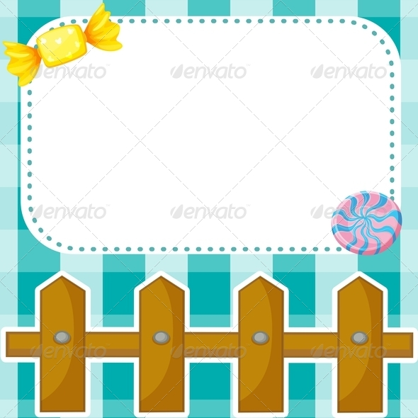 GraphicRiver Blank Stationary with Fence and Candies 8071612