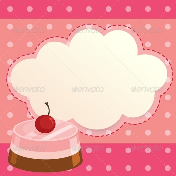 GraphicRiver Pink Cake with Blank Callout 8071625