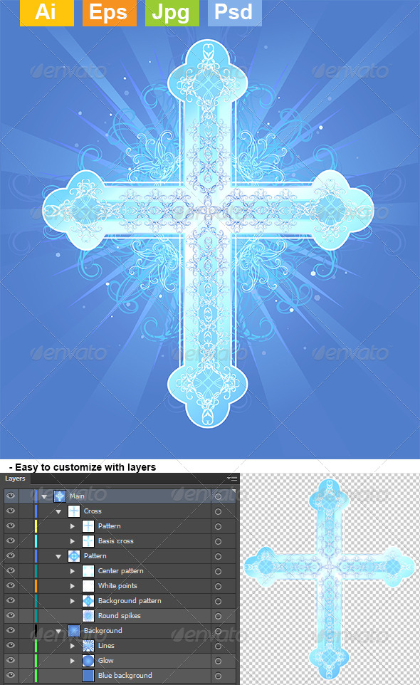GraphicRiver Heavenly Cross 8071638