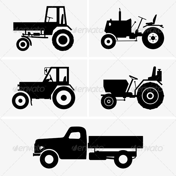 GraphicRiver Agricultural Vehicles 8071722