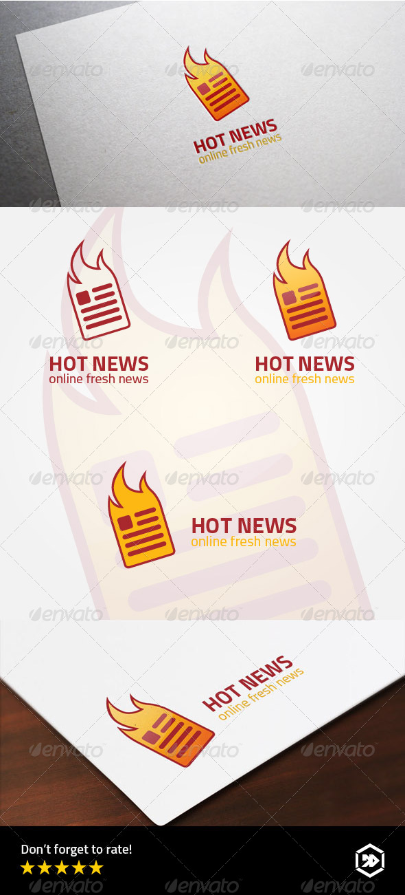 GraphicRiver Hot or Fresh Online Newspaper Logo 8071726