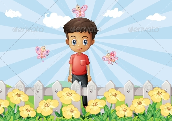 GraphicRiver Boy in the Garden 8071788