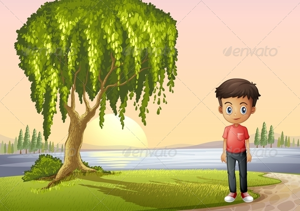 GraphicRiver Boy at the River 8071801