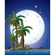 Full Moon, Palm Trees and Sea - GraphicRiver Item for Sale