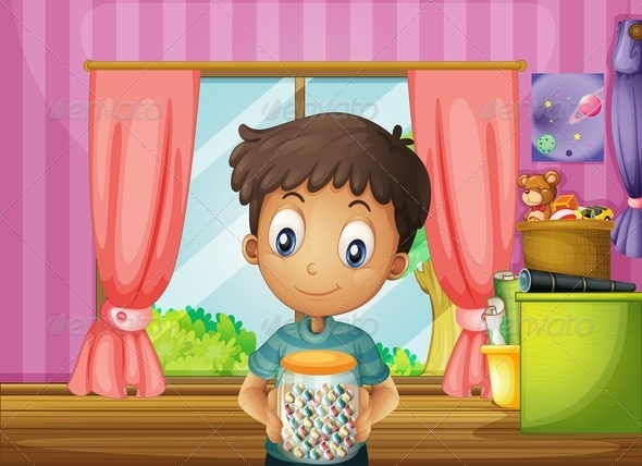 GraphicRiver Boy with Candy Jar 8071901