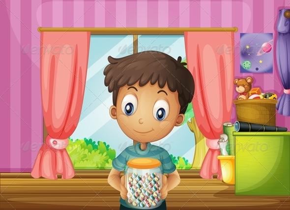 Boy with Candy Jar