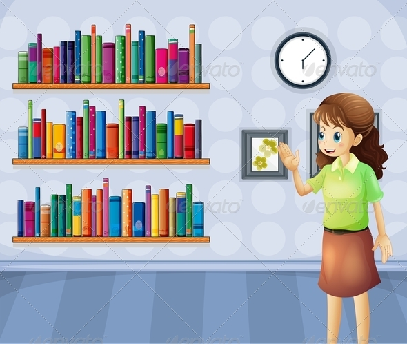 GraphicRiver Teacher in the Library 8071950
