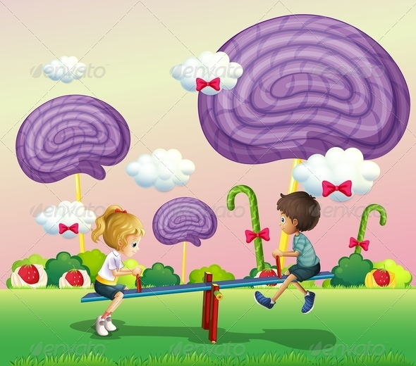 GraphicRiver Kids Playing in Candyland 8072017