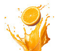 splashing orange juice - PhotoDune Item for Sale