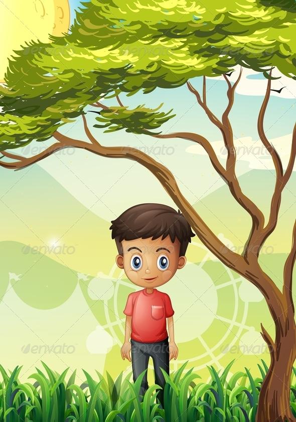 GraphicRiver Boy in a Field 8072411
