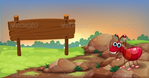 GraphicRiver Ant with Empty Sign 8072566
