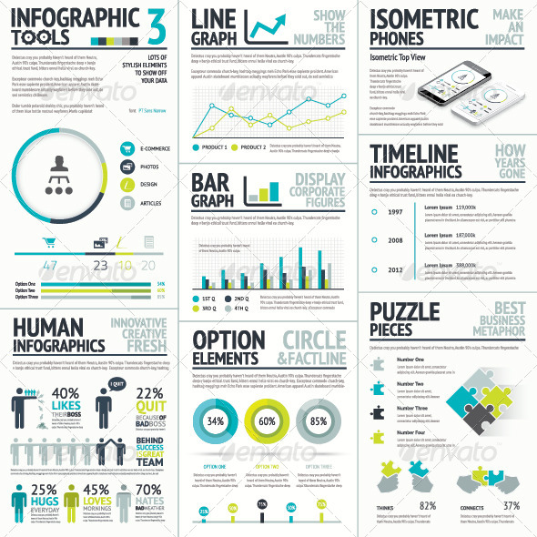 Business and Human Vector Infographic Element Set