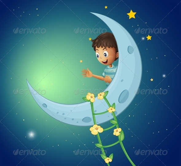 GraphicRiver Boy on the Moon 8072579