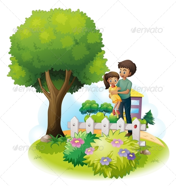GraphicRiver Father and Daughter Outside 8072594