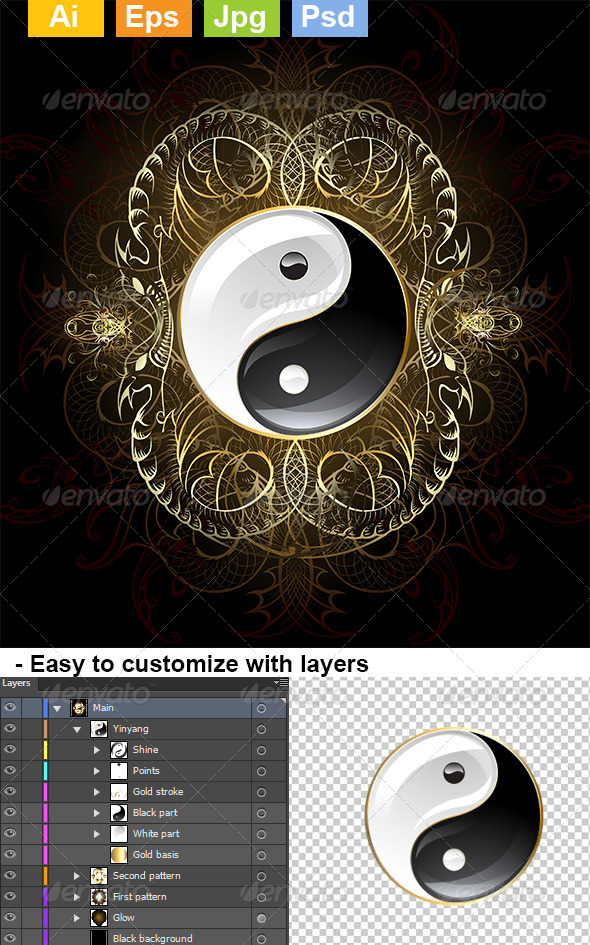 GraphicRiver Symbol Yinyang 8072735