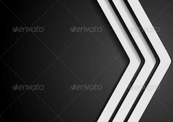 GraphicRiver Abstract Dark Background with White Arrows 8072787