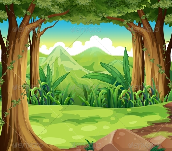 GraphicRiver Forest and Mountains 8073540