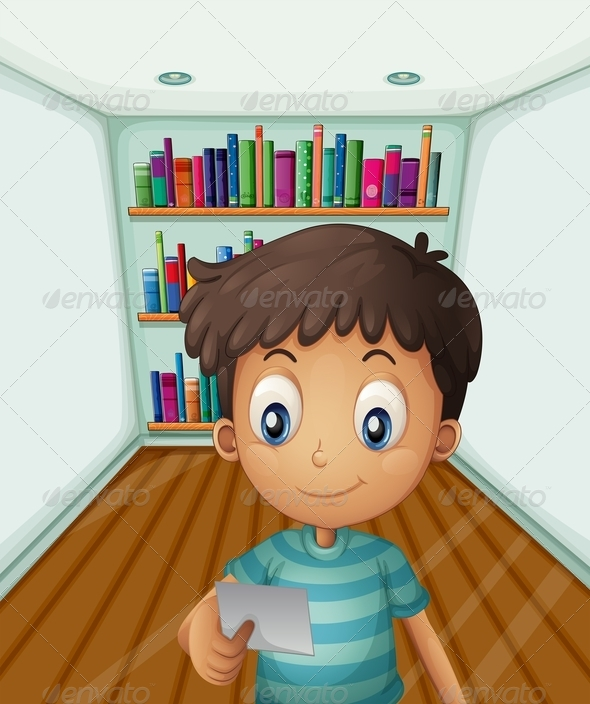 GraphicRiver Boy by Bookshelves 8073546