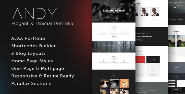 ANDY - WordPress One-Page Simple Parallax Theme