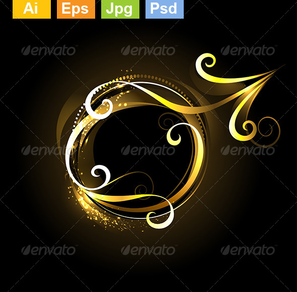 GraphicRiver Golden Symbol of Mars 8073874