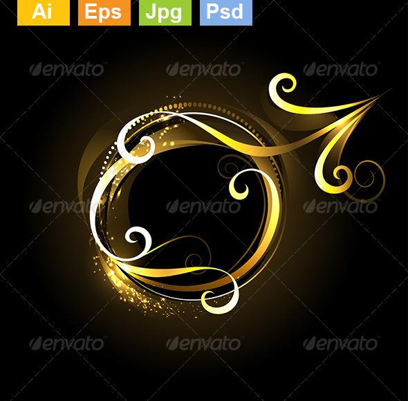 GraphicRiver Golden Symbol of Mars 8073874