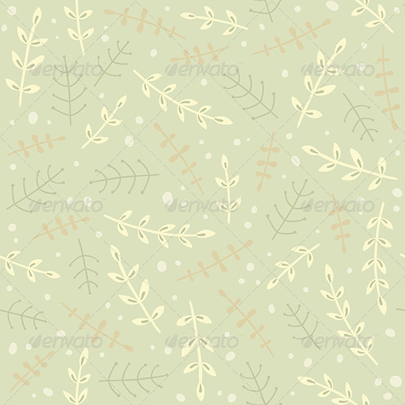 GraphicRiver Green Plant Pattern 8059830