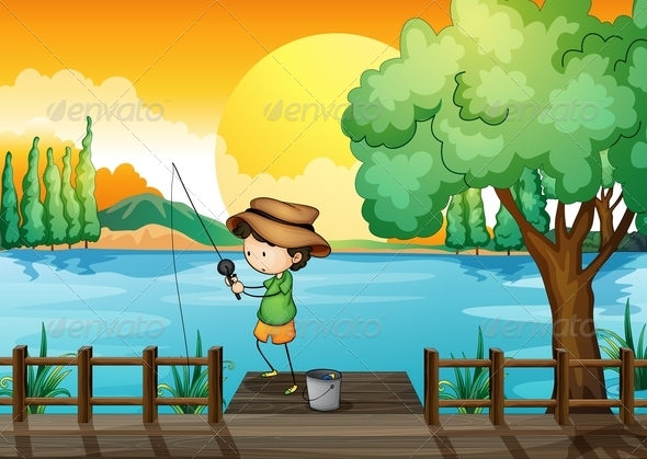 GraphicRiver Man Fishing 8074066