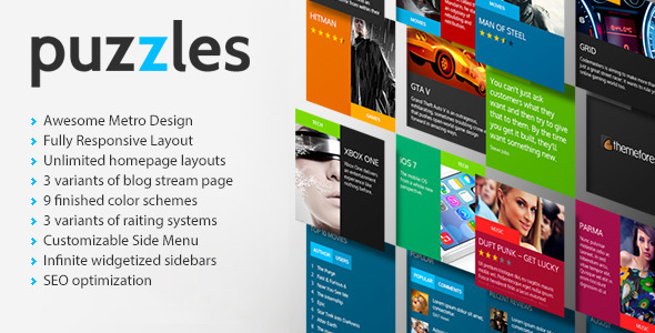 Puzzles | Magazine/Review HTML Theme - Entertainment Site Templates