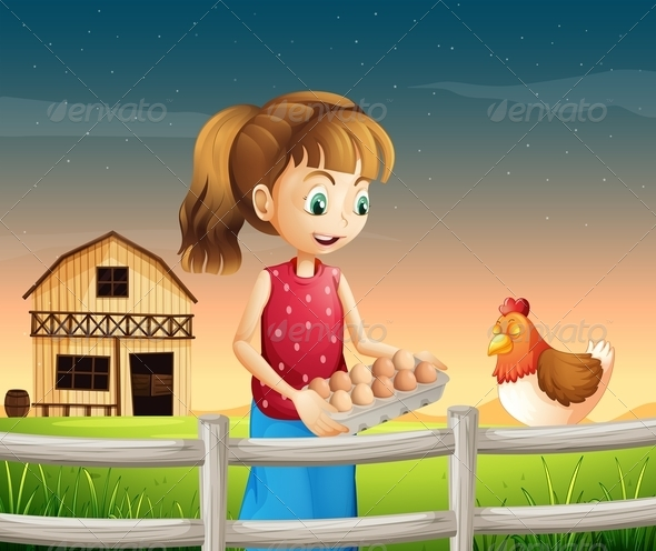 GraphicRiver Woman Holding an Egg Tray 8074139