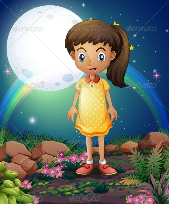GraphicRiver Little Girl in the Rocky Garden 8074147