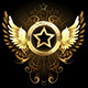 Star with Golden Wings - GraphicRiver Item for Sale