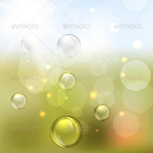 GraphicRiver Summer Abstract Background with Lights 8074491