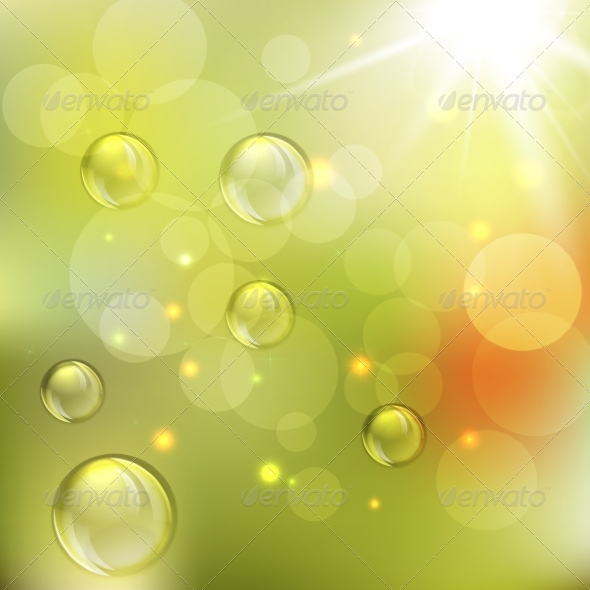 GraphicRiver Summer Abstract Background with Lights 8074504