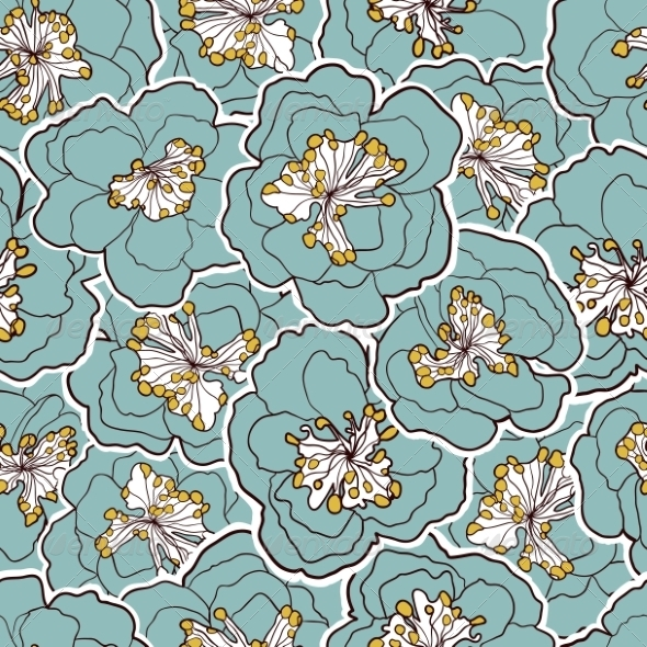 GraphicRiver Floral Seamless Pattern 8074583