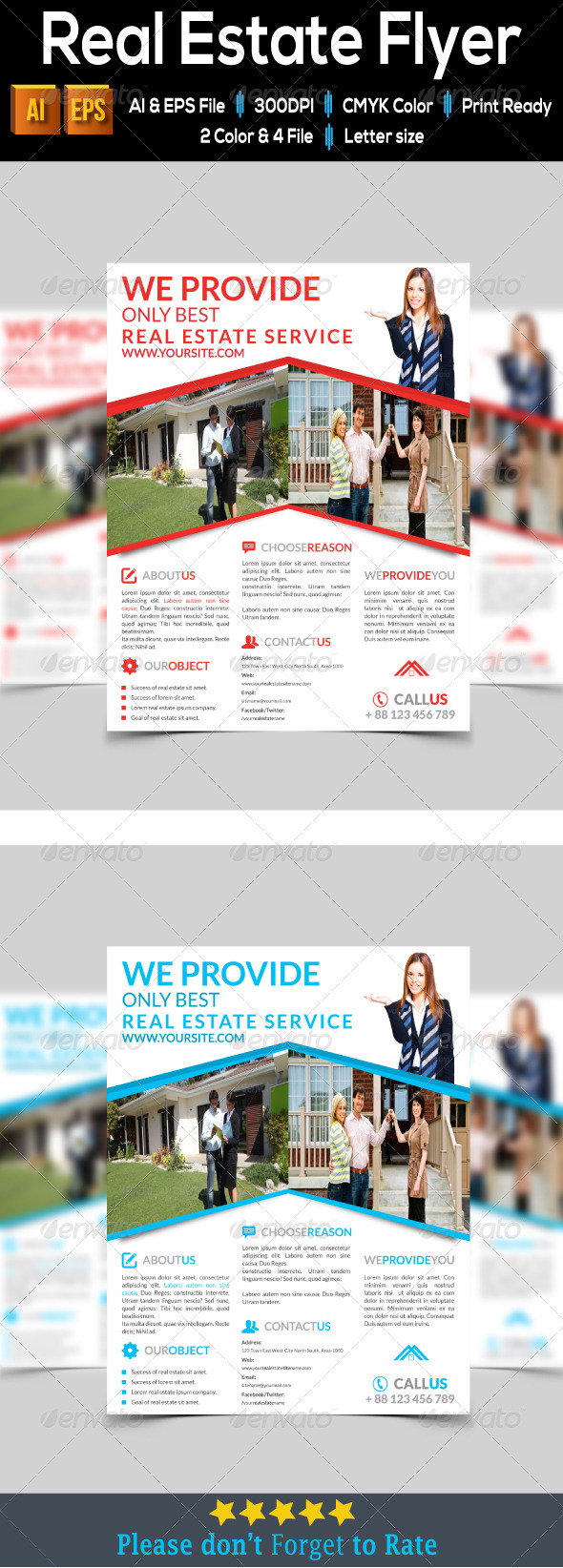 GraphicRiver Real Estate Flyer 8074632