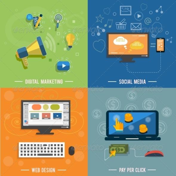 GraphicRiver Social Media Web Design Seo and Pay Per Click 8074710