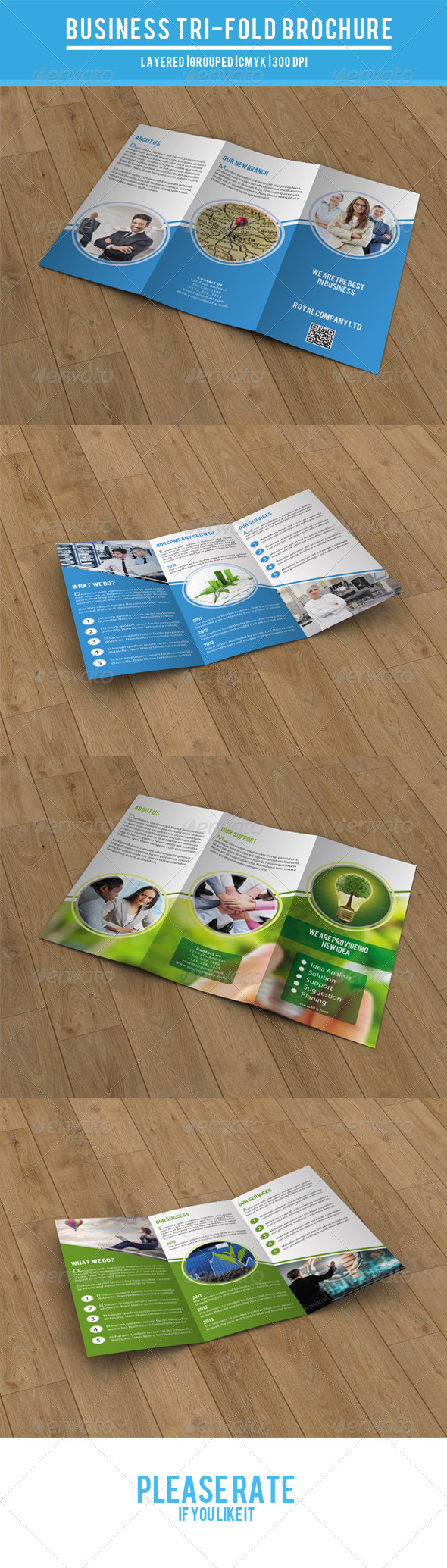 GraphicRiver Fresh Trifold Brochure-V18 8074727