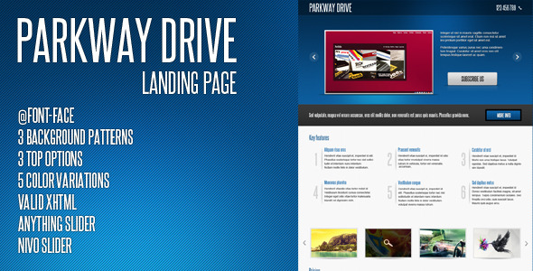 Parkway Drive - Landing Page