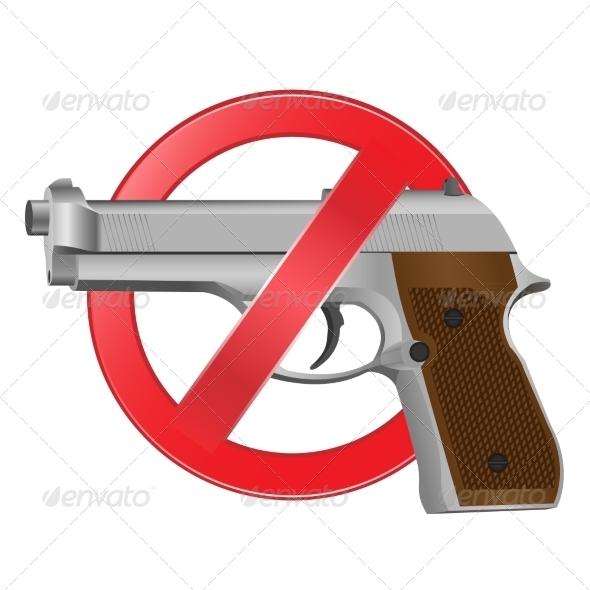 GraphicRiver No Guns Allowed Sign 8074730