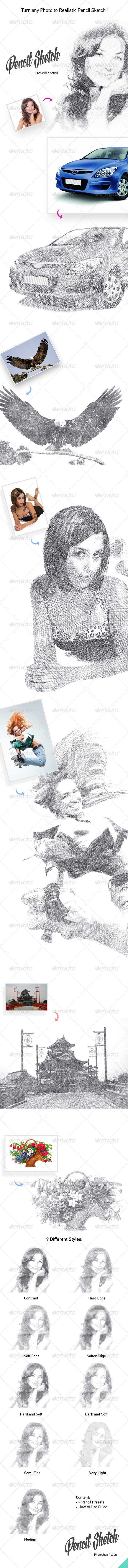 GraphicRiver Pencil Sketch Action 8025453