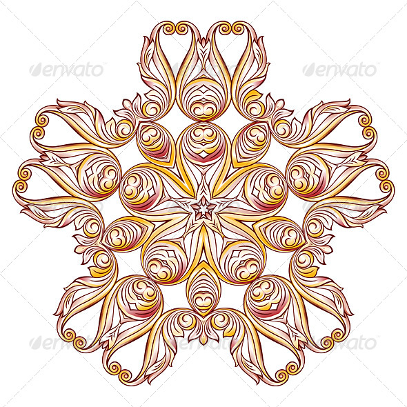 GraphicRiver Ornate Floral Pattern on White 8074950