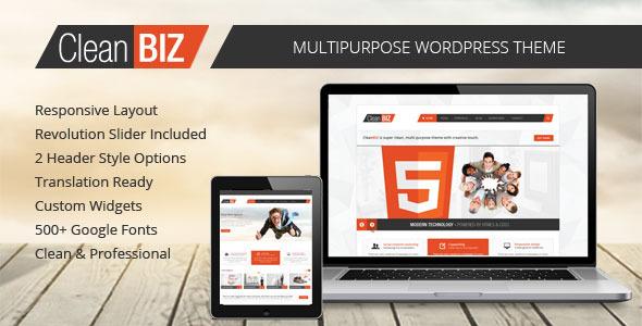 CleanBIZ - Multipurpose Wordpress Theme