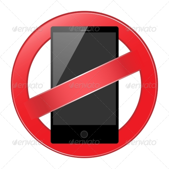 GraphicRiver Mobile Phone Forbidden 8075101