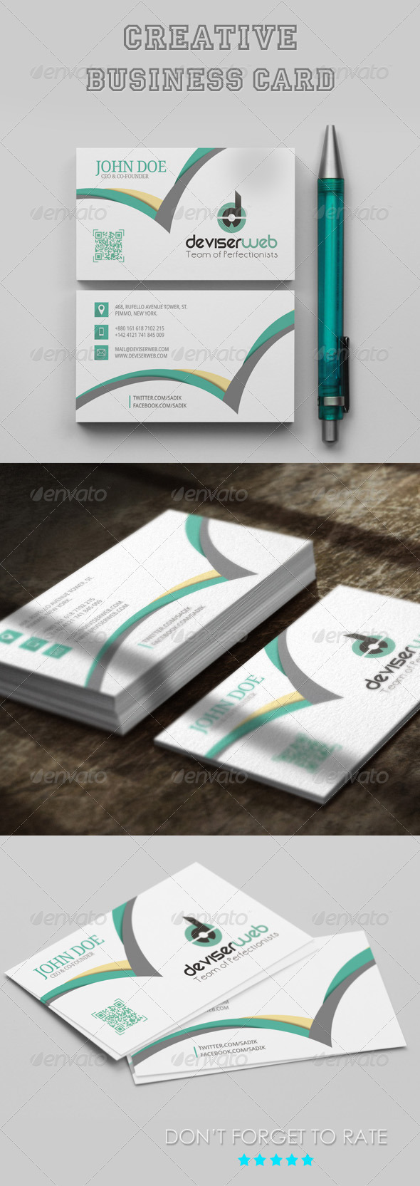 GraphicRiver Creative Business Card Template 8075103