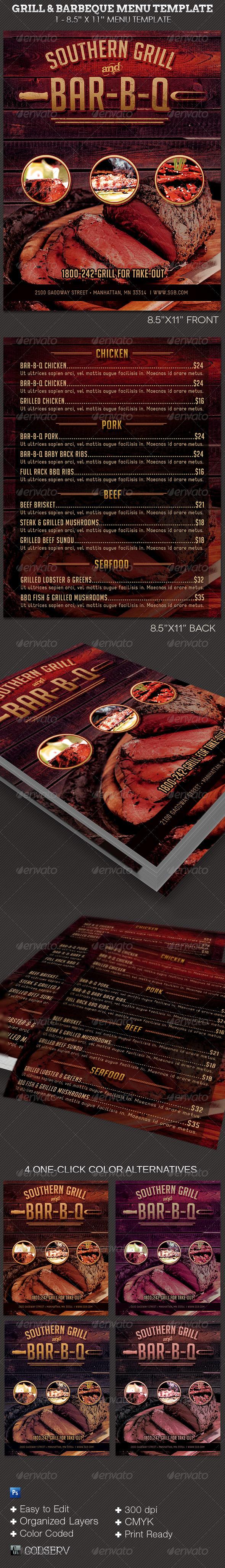 Bbq menu template ukranochi bbq menu template maxwellsz