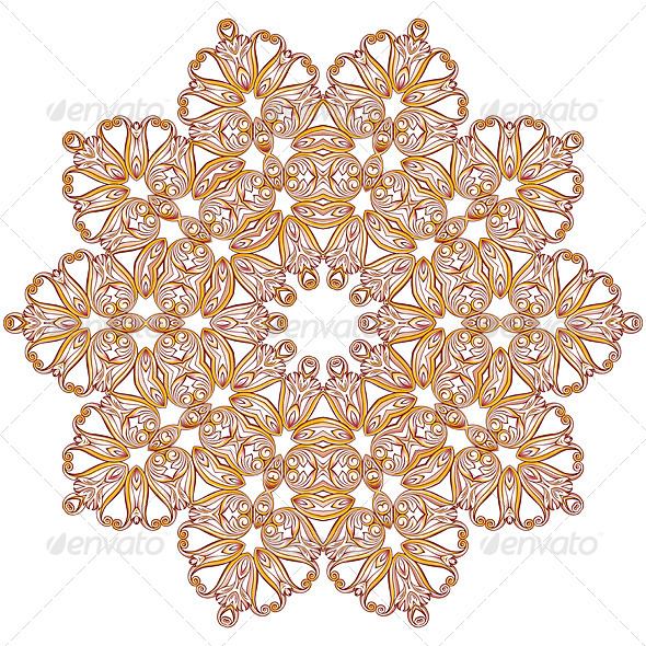 GraphicRiver Ornate Floral Pattern on White 8075223