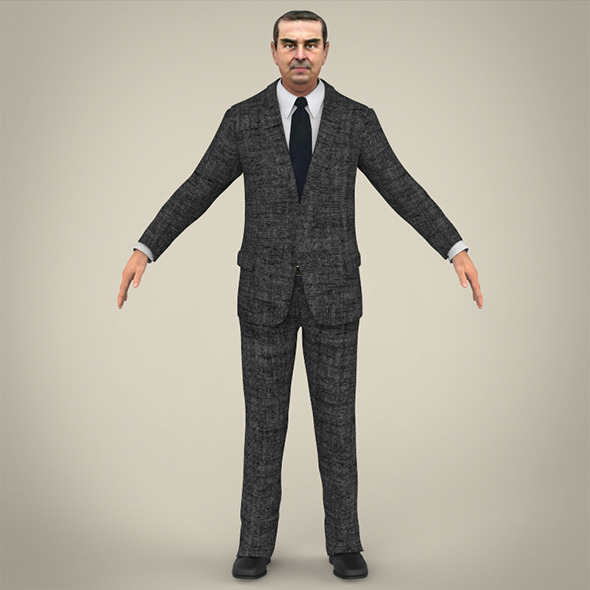 Realistic Business Man - 3DOcean Item for Sale