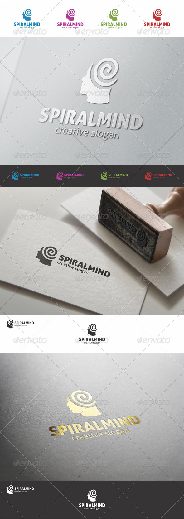 Spiral Mind - Creative Human Logo - Humans Logo Templates